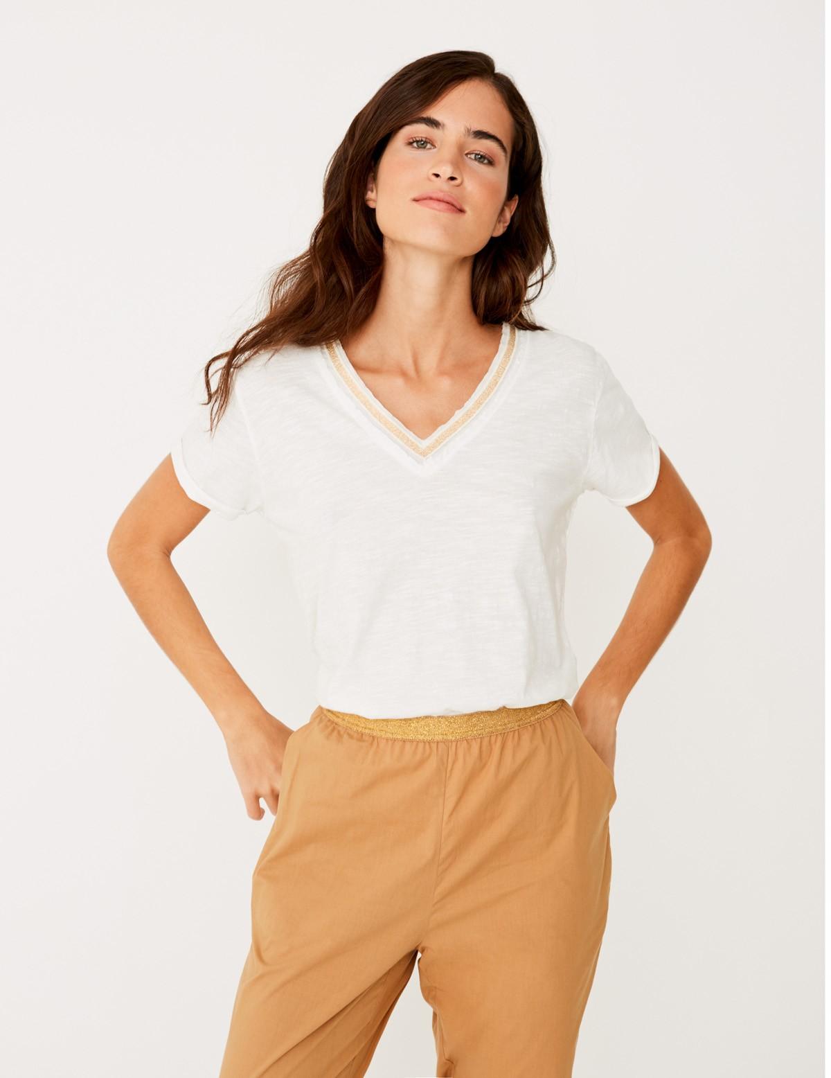 Camiseta cinta brillante