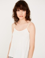 Tank top with shiny straps - Item