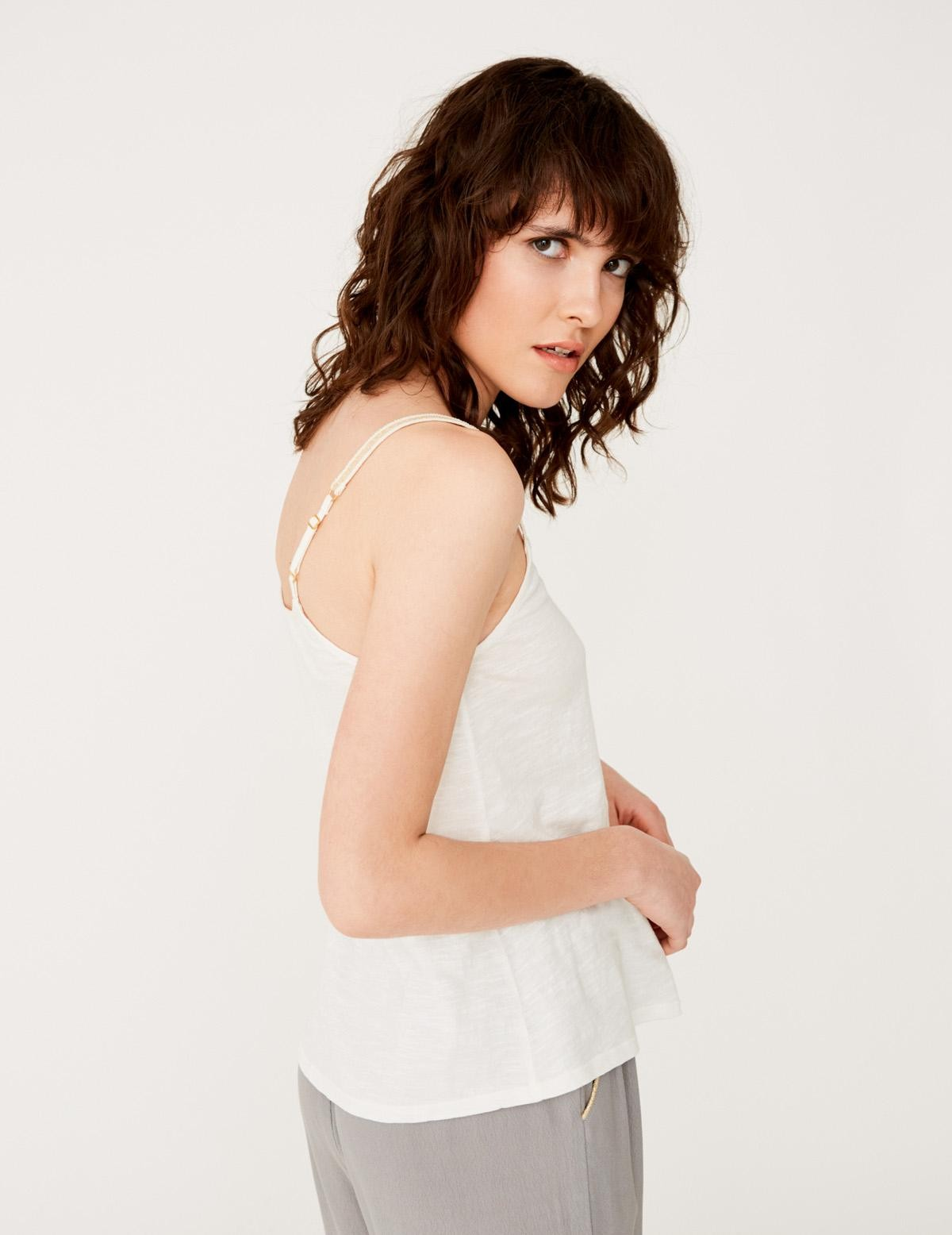 Tank top with shiny straps - Item2