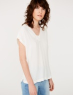 Combined fabric t-shirt - Item