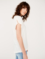 Combined fabric t-shirt - Item1