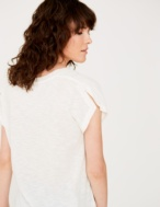 Combined fabric t-shirt - Item2