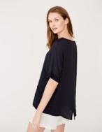 Camiseta combinación de tejidos - Ítem1