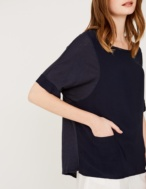 Camiseta combinación de tejidos - Ítem2