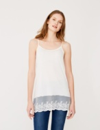 Long top with lace edging