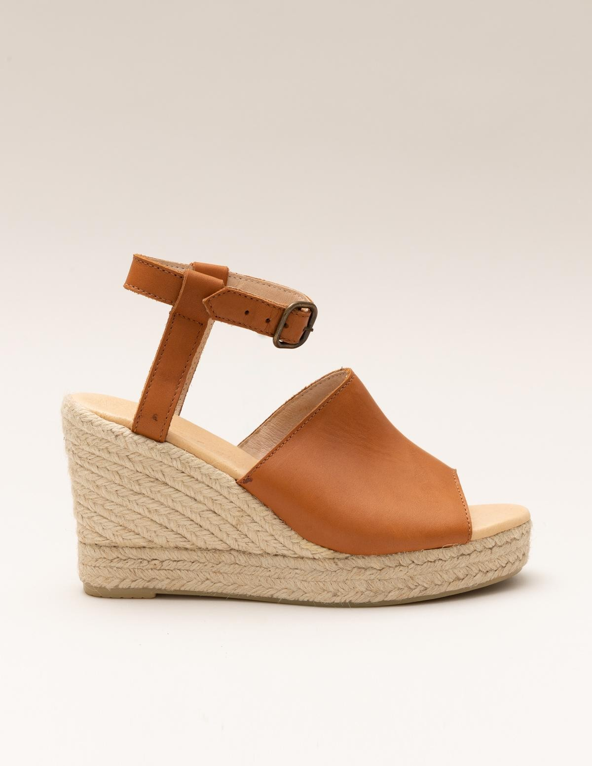 Leather and jute wedges - Item1