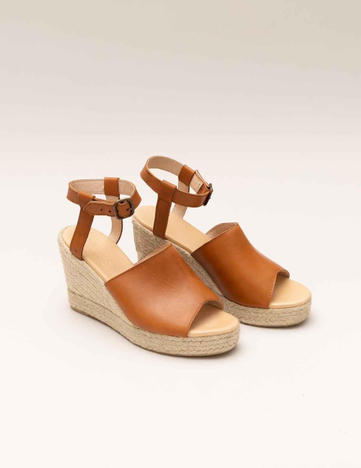 Leather and jute wedges - Item3