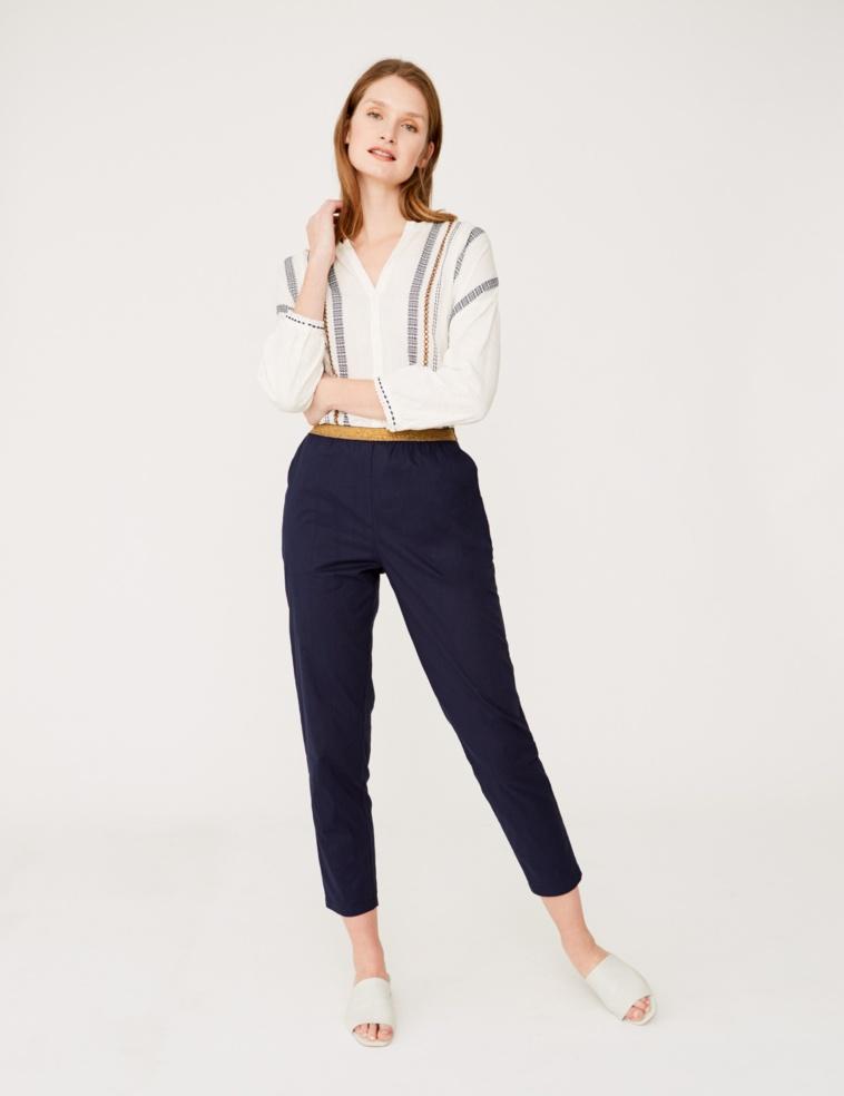 Pantalón algodón cintura elástica
