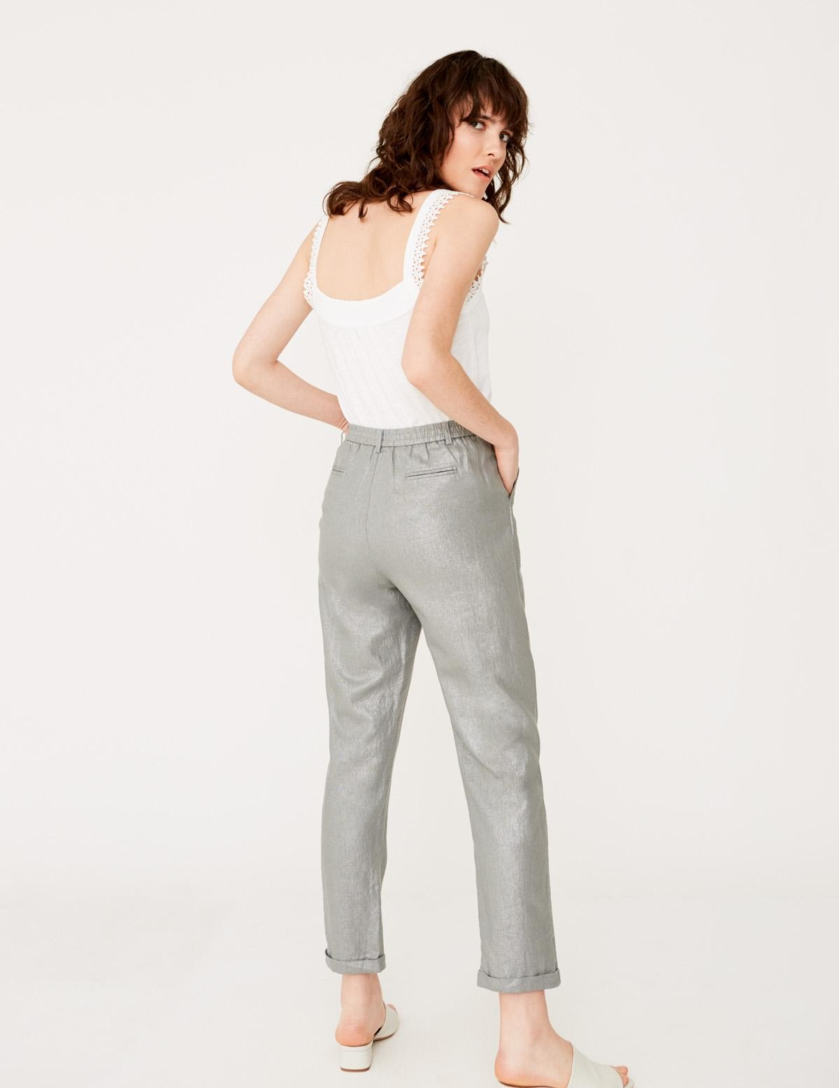 Pantalón lino metalizado - Ítem1