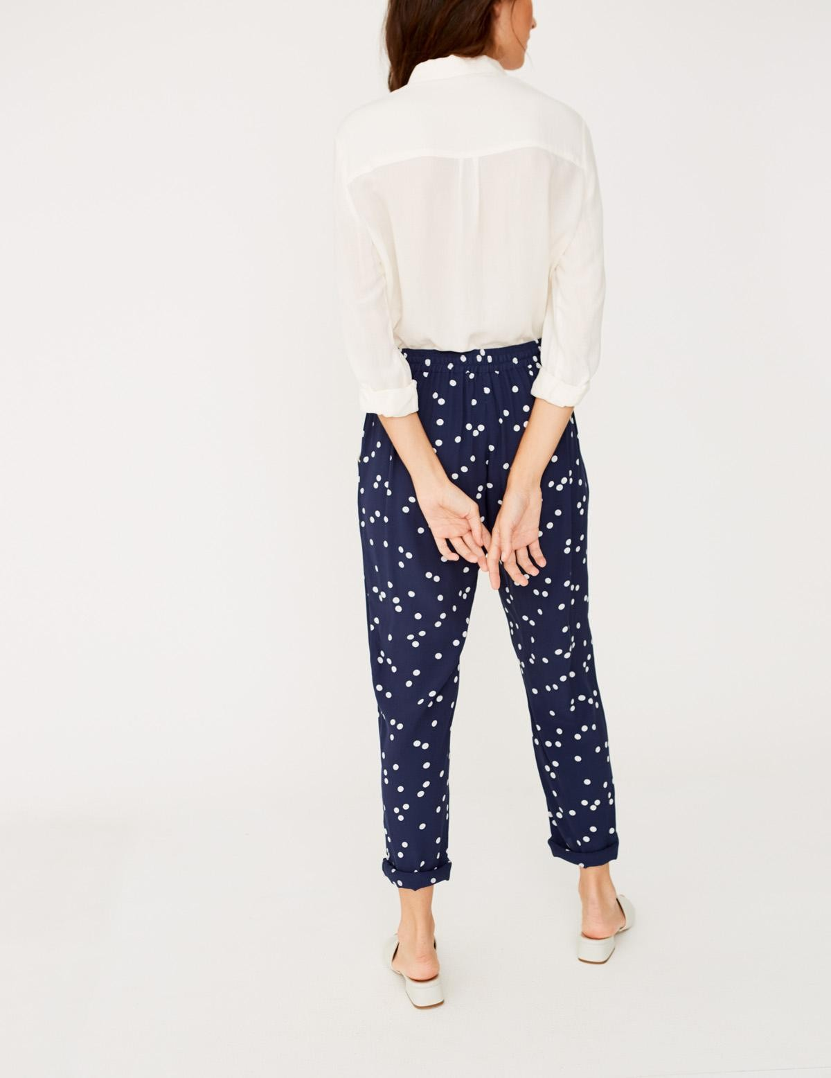 Flowing print trousers - Item1