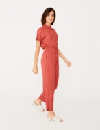 Flowing shirt-style jumpsuit - Item