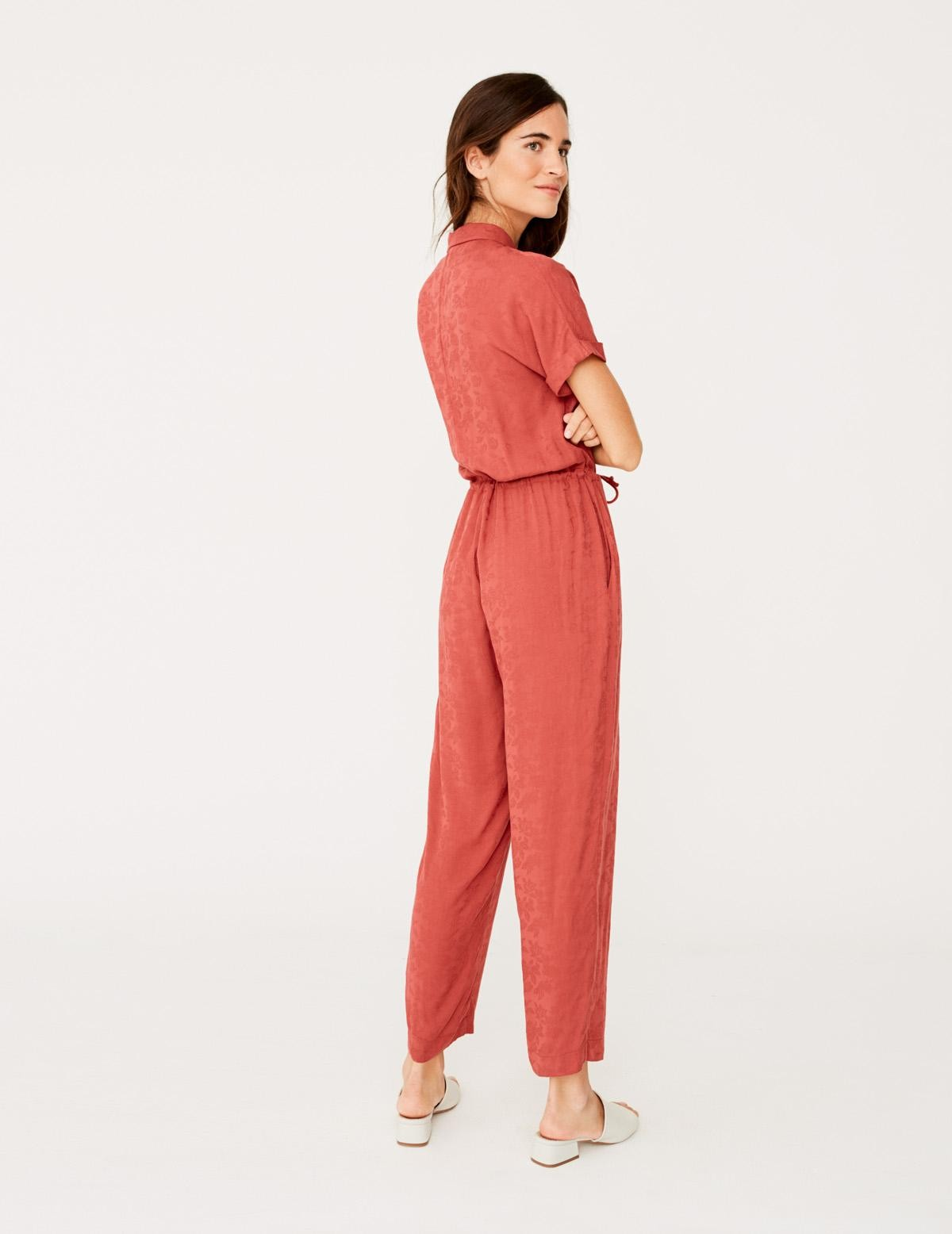 Flowing shirt-style jumpsuit - Item1