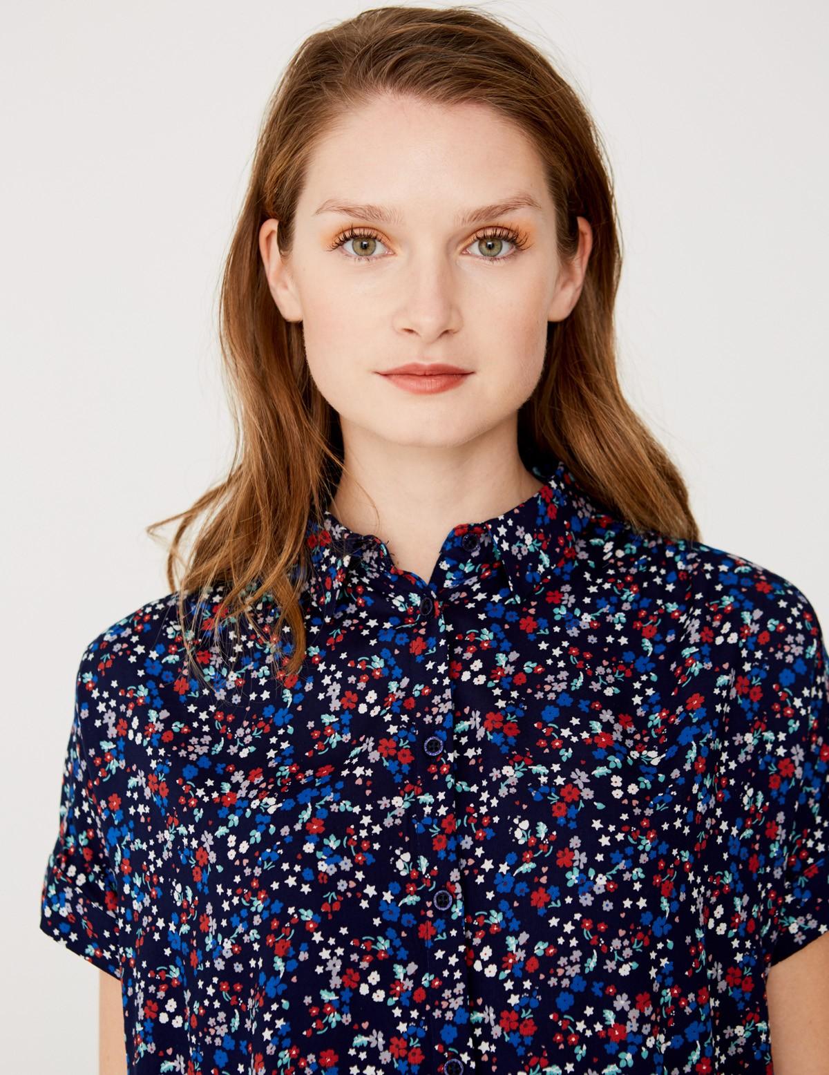 Camisa estampado flores