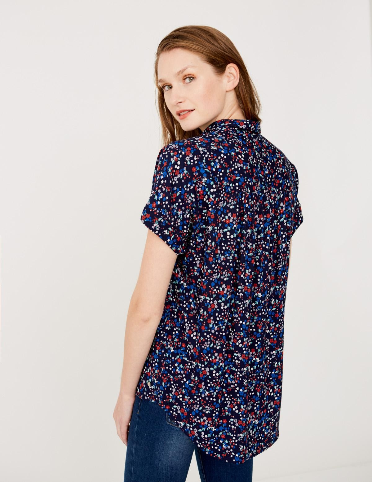 Camisa micro estampado flores - Ítem2