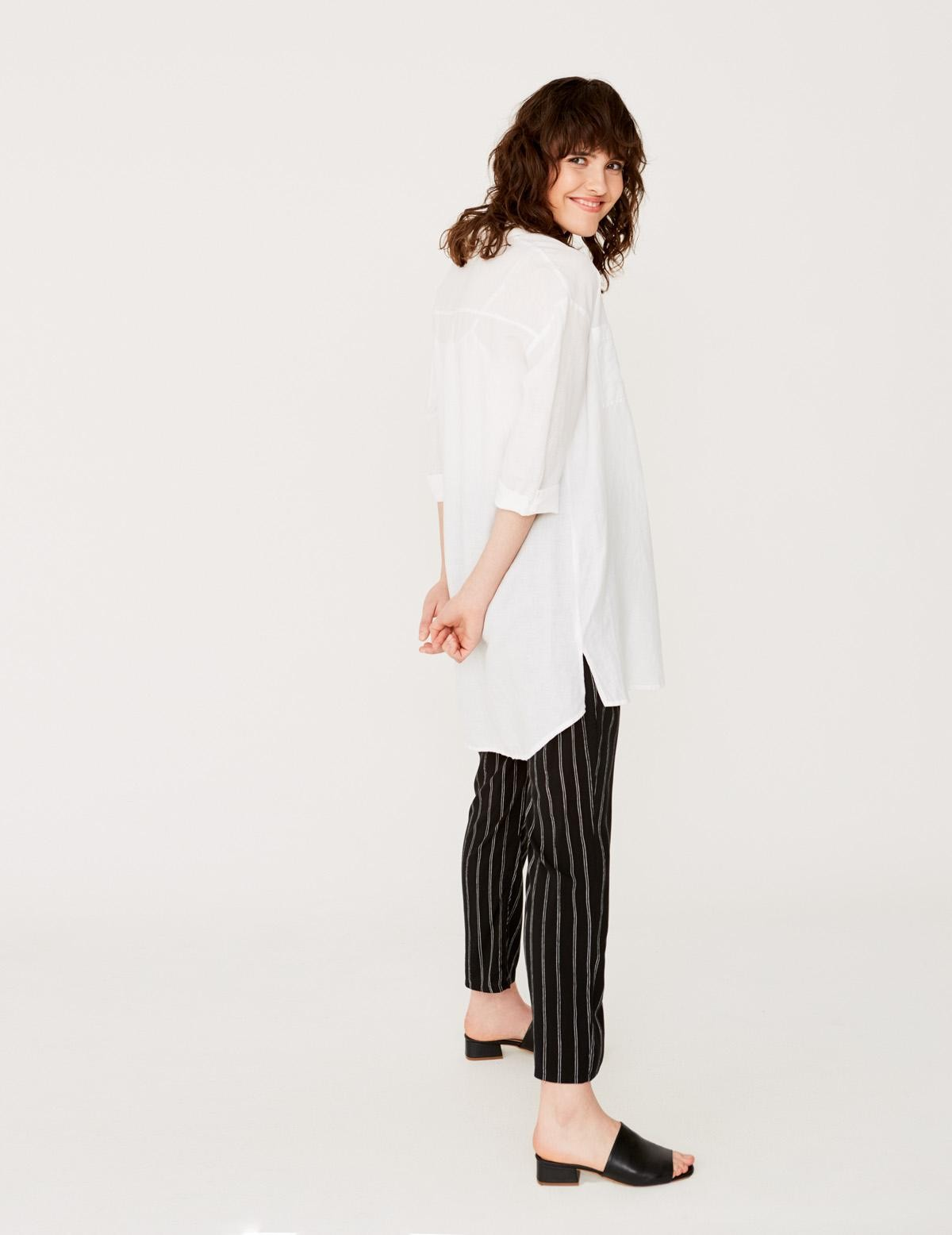 Camisa larga de lino - Ítem1
