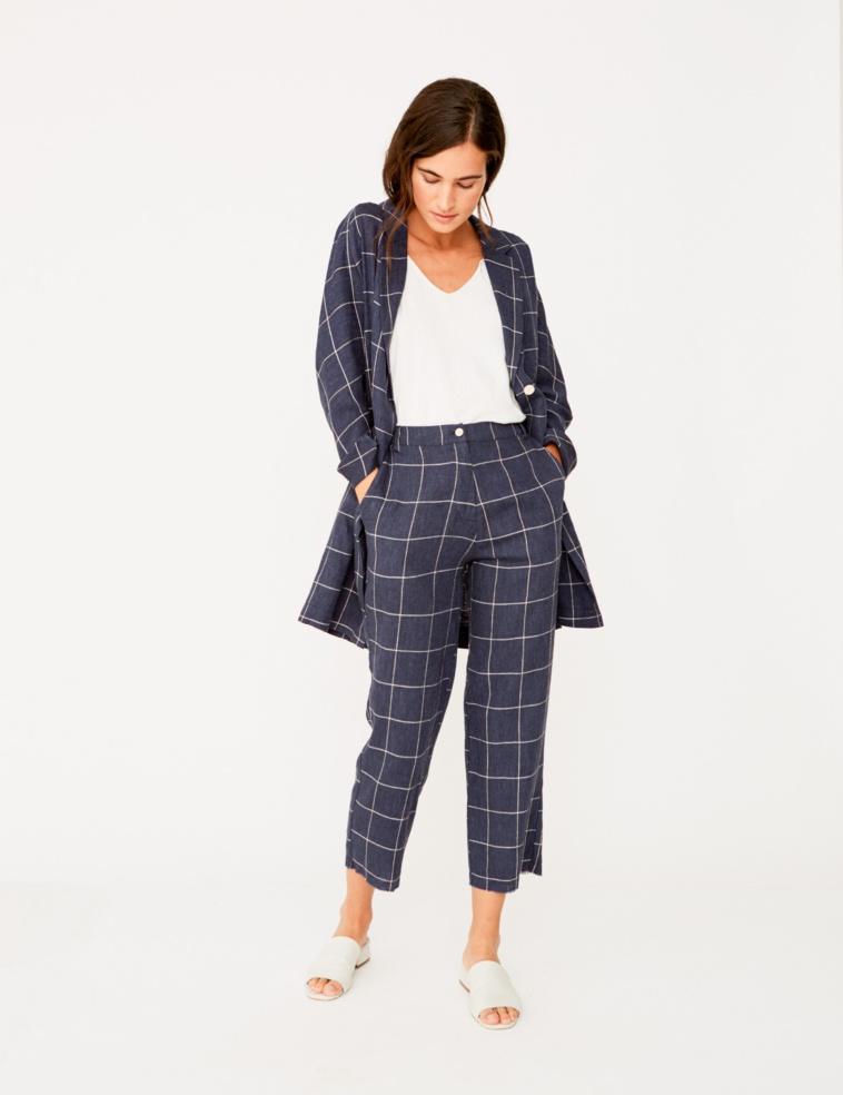 Linen culotte trousers