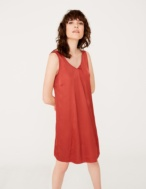 Strap dress with V-neckline - Item1