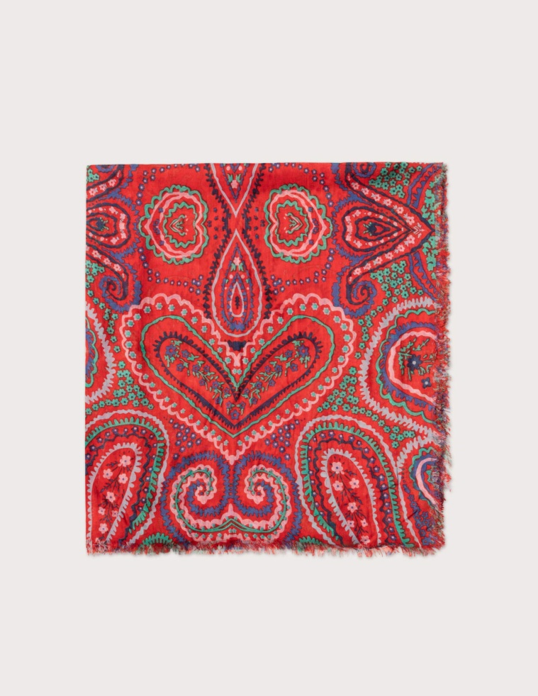 Embroidered cachemir foulard