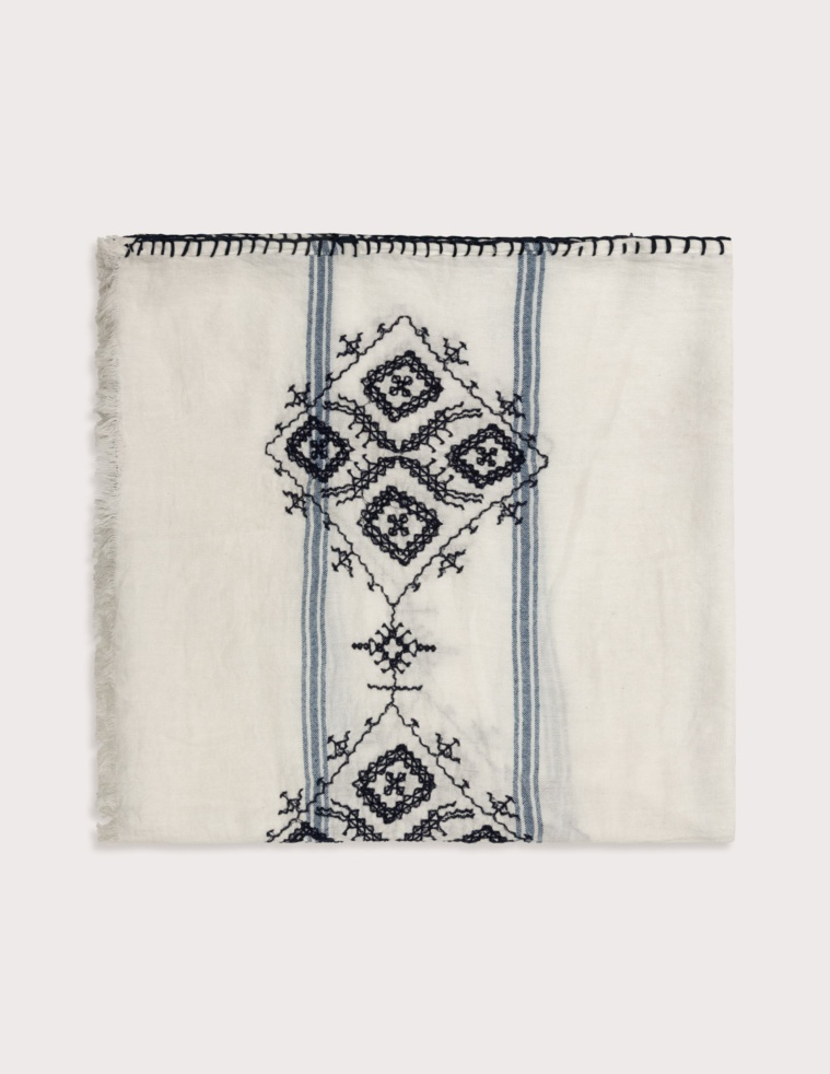 Embroidered detail foulard