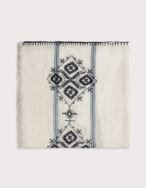 Embroidered detail foulard - Item