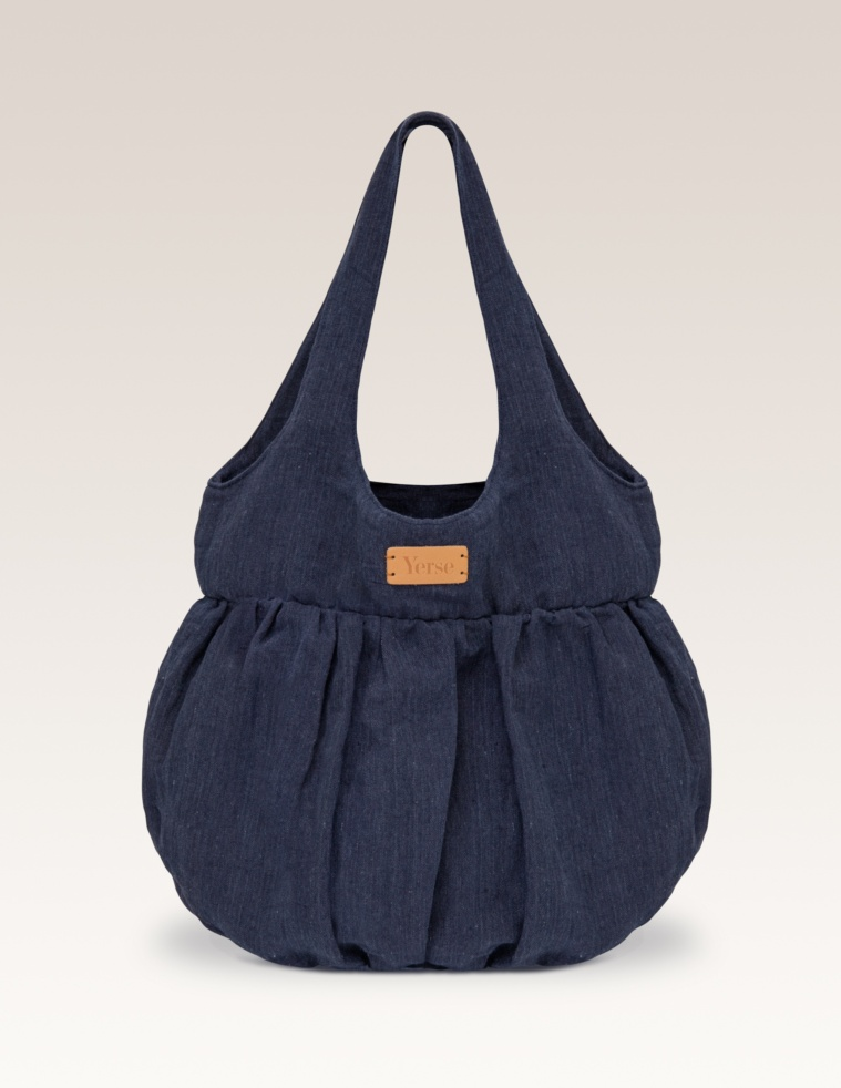 Bolso shopper de lino
