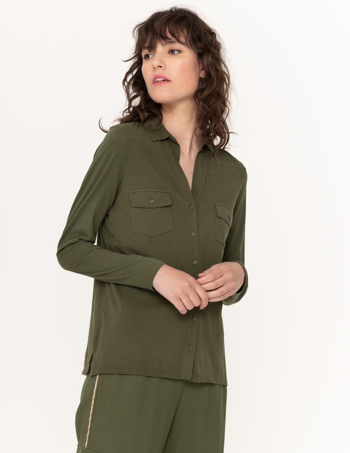 Camisa manga larga algodón orgánico
