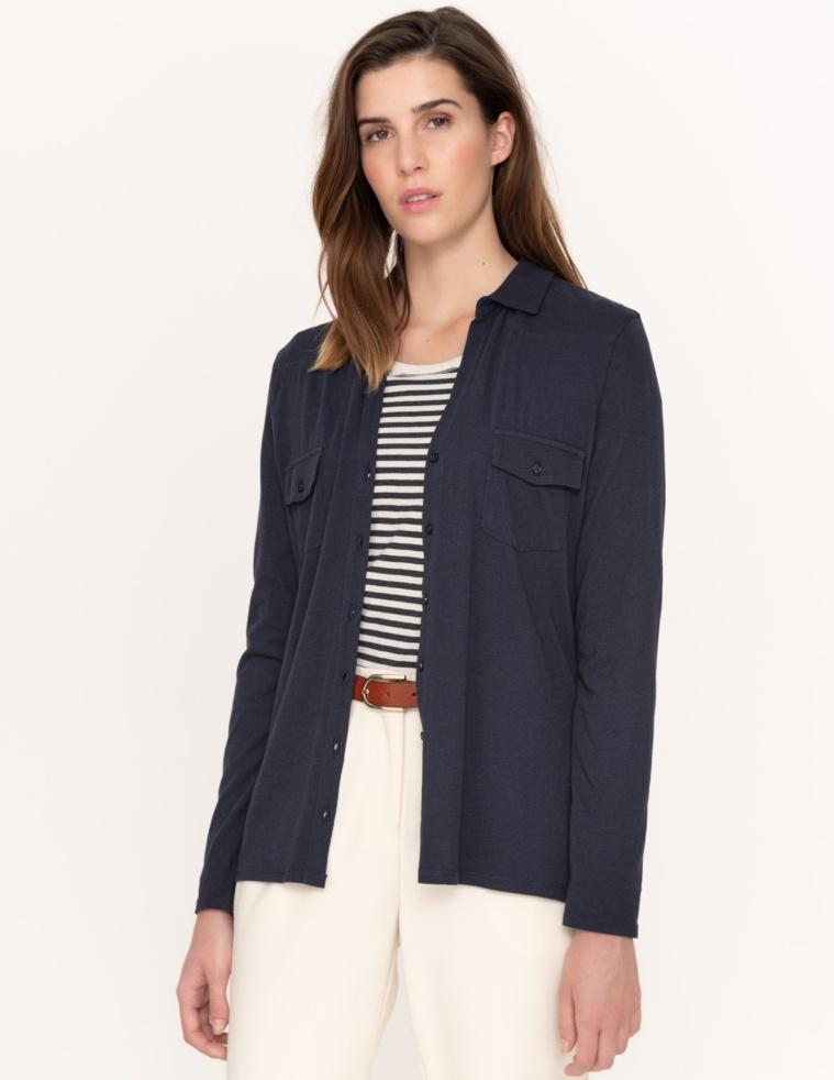 Long-sleeve organic cotton shirt