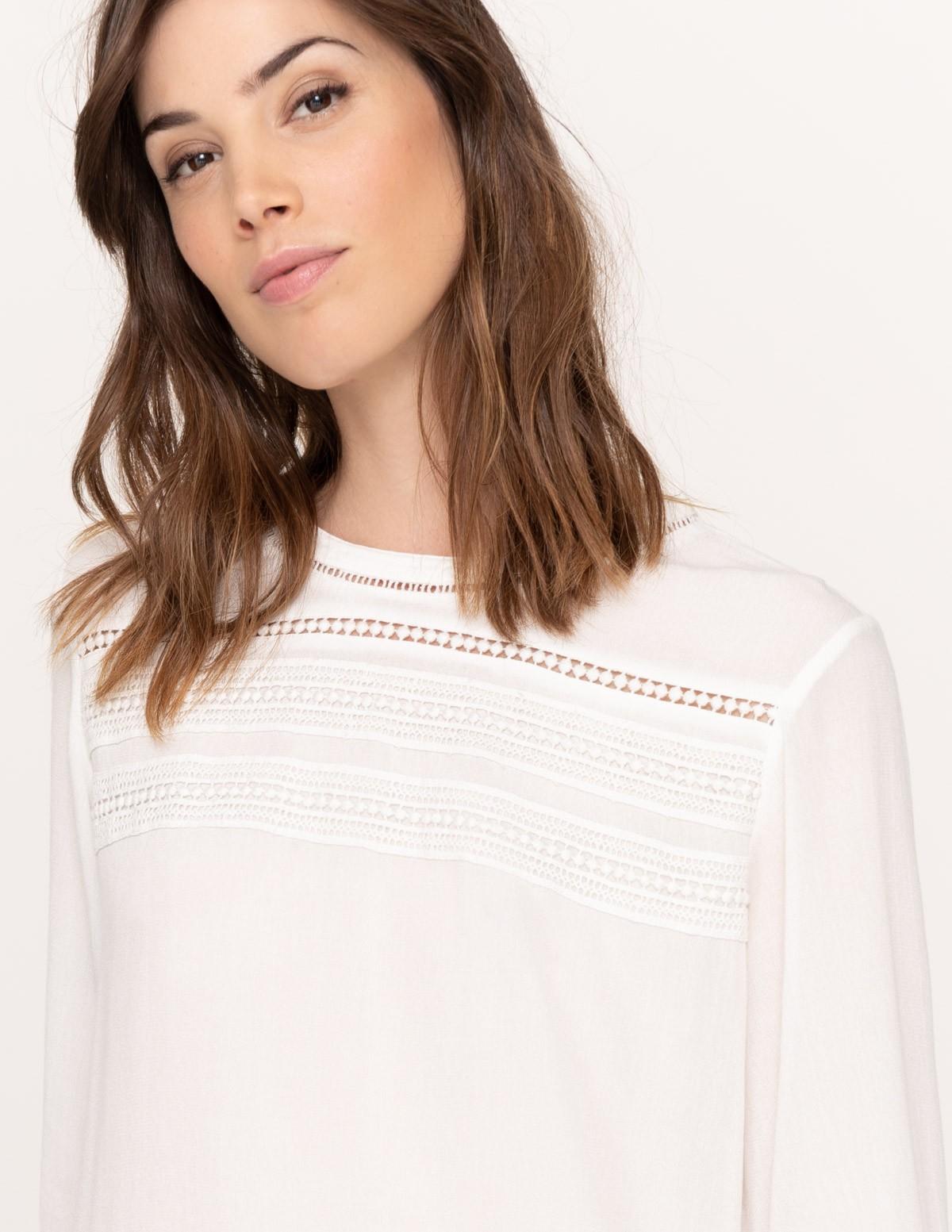 Camisa detalles puntilla