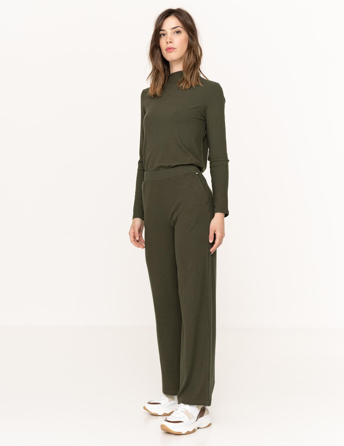 Ribbed cropped trousers - Item1