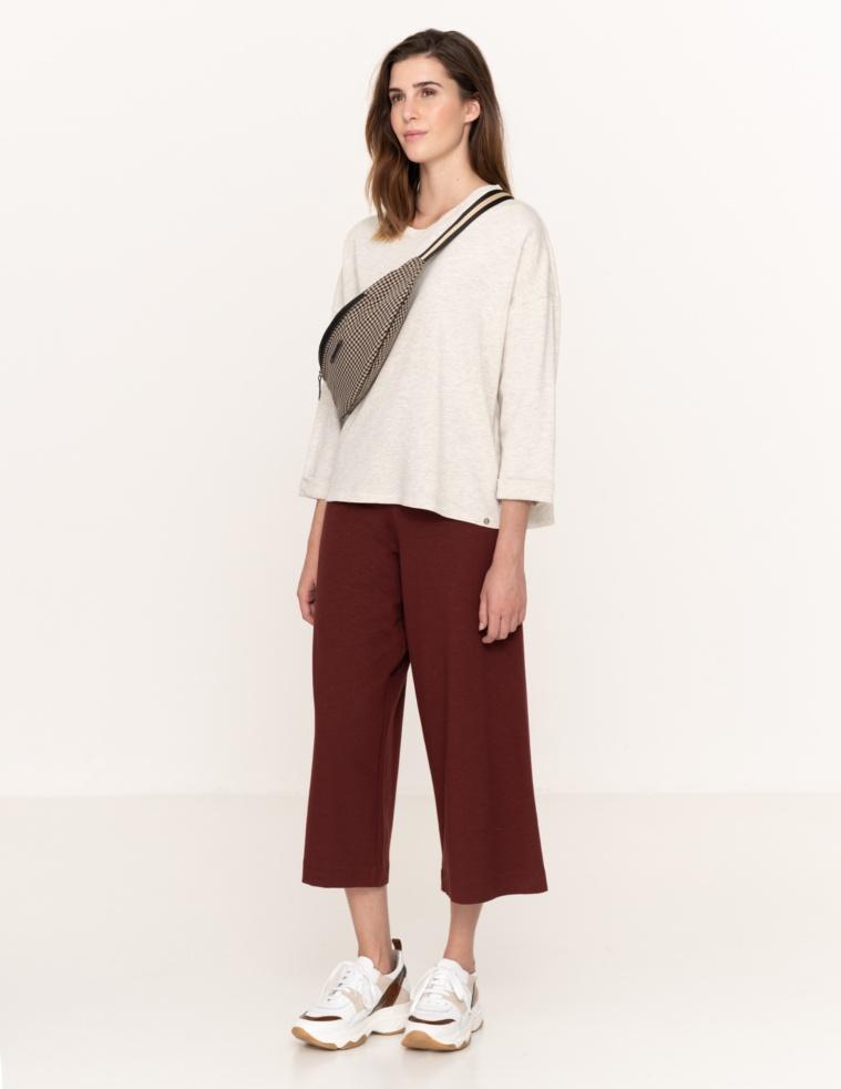 3/4 sleeve sweatshirt