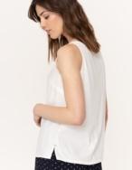 Camiseta sin mangas tejidos combinados - Ítem1