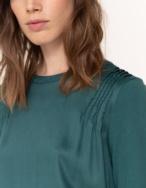 Camiseta fruncidos tejidos combinados - Ítem2