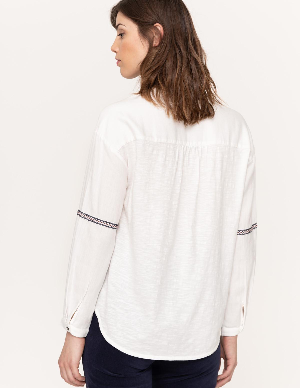 Camisa cuello mao bordados - Ítem1