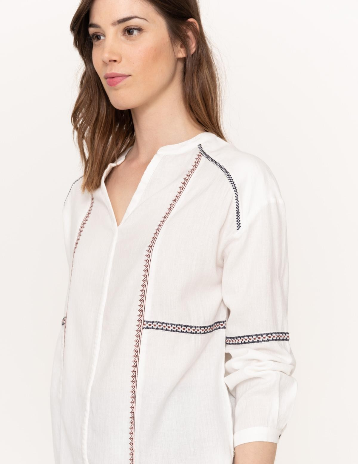 Camisa cuello mao bordados - Ítem2