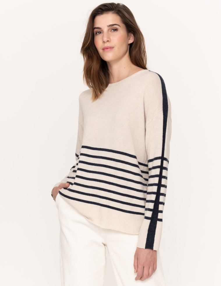 Partly striped jumper