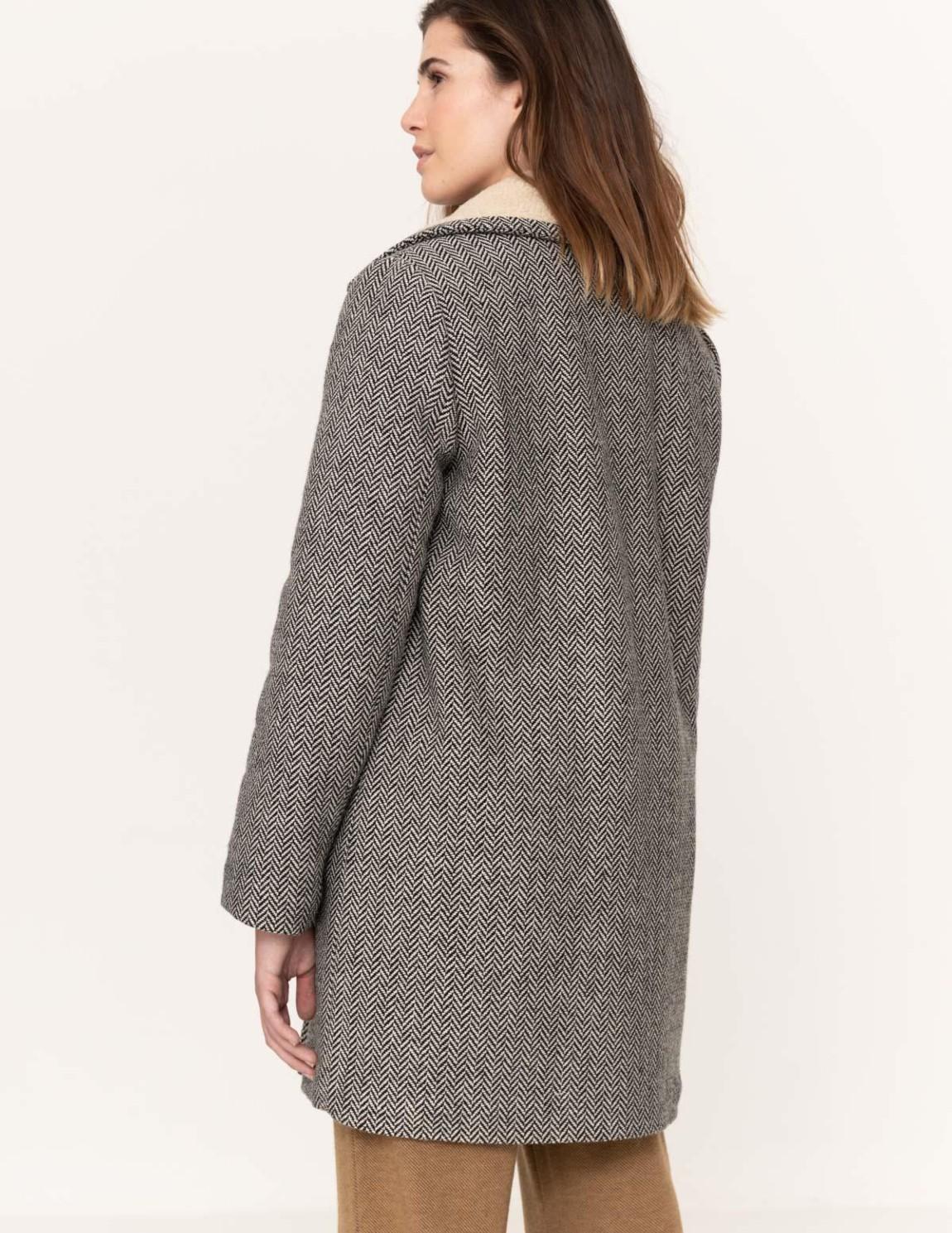 Abrigo cuello de borrego - Ítem1