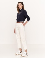 Cropped corduroy trousers - Item1