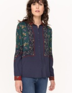 Camisa fluida patchwork - Ítem1