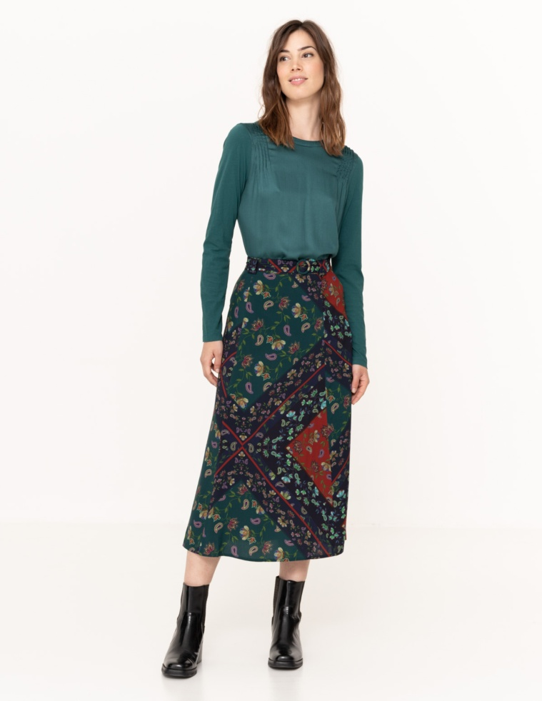 Flowy patchwork skirt