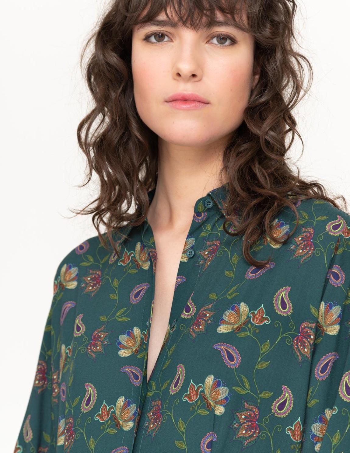 Vestido camisero patchwork - Ítem2
