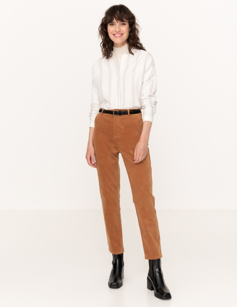 Brushed trousers