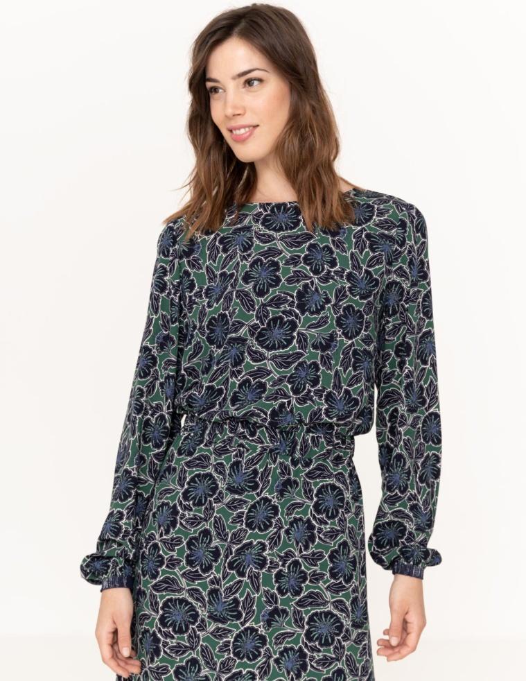 Flowy back-button blouse