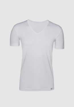 V-neck T-shirt Mercerized Cotton