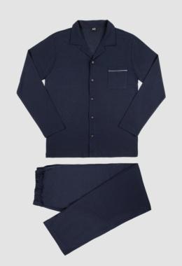 Pijama Hilo de Escocia marino