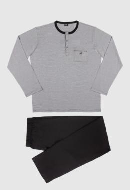Pijama Hilo de Escocia negro
