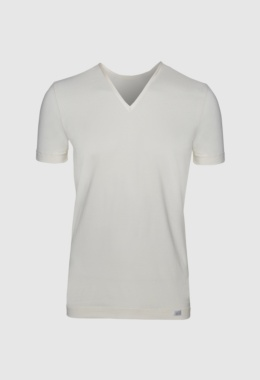 V-neck T-shirt Soya yarn