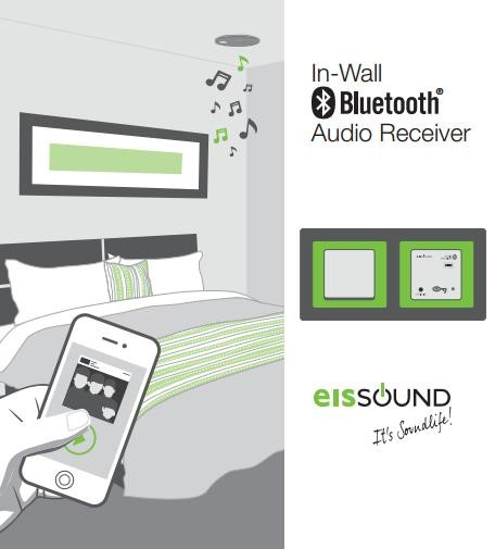 VÍDEO IN-WALL BLUETOOTH® AUDIO RECEIVER. EISSOUND