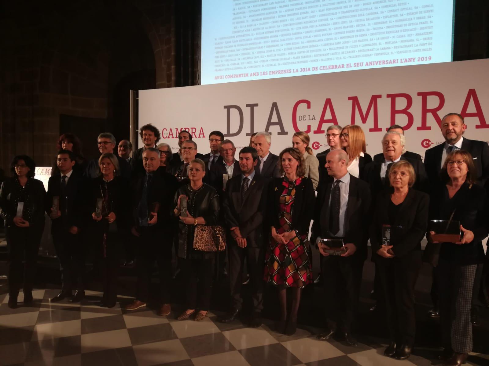Plana Fàbrega galardonada por la Cámara de Comercio de Barcelona