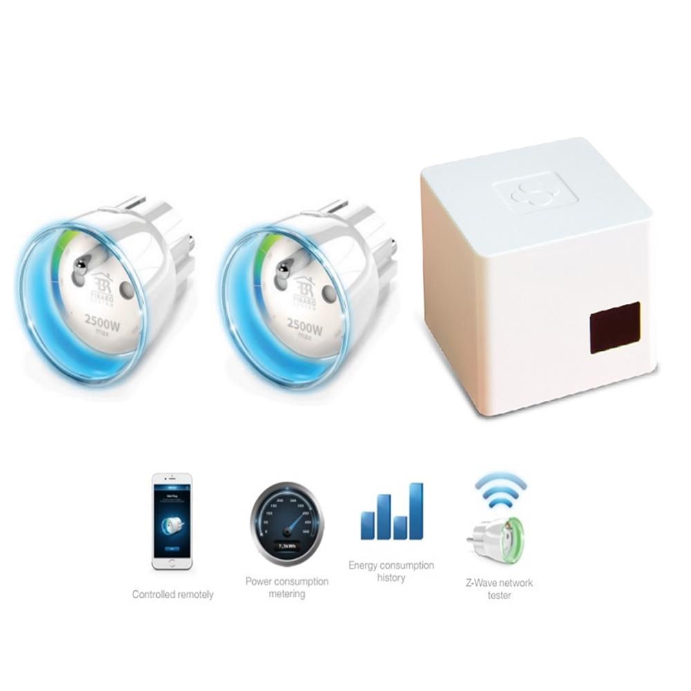 Kit de Smart Home con dos Enchufes inteligentes+Gateway+licencia