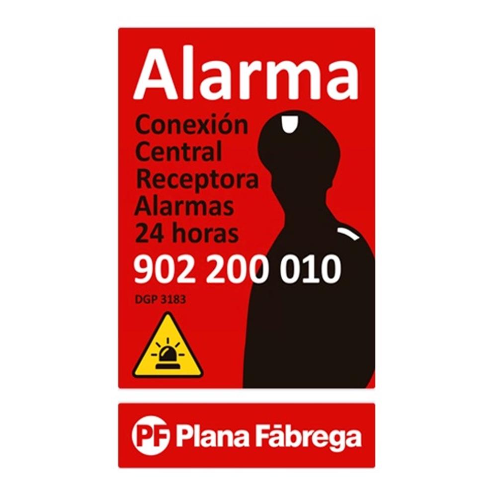 Placa alarma pequeña castellano
